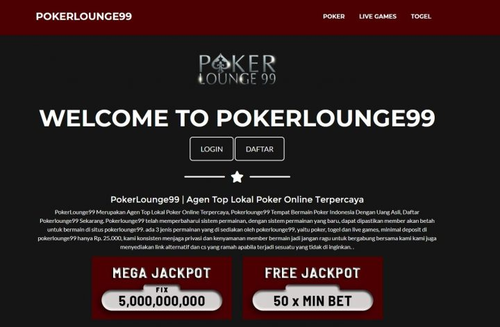 Situs Judi Terpercaya Dan Teraman Di Pokerlounge99